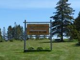 Entrance Sign to Park--1 km in from Highway 3